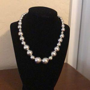 Silver gum ball necklace
